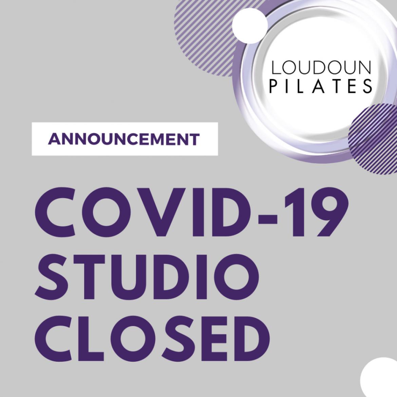 COVID-19: Studio Closed